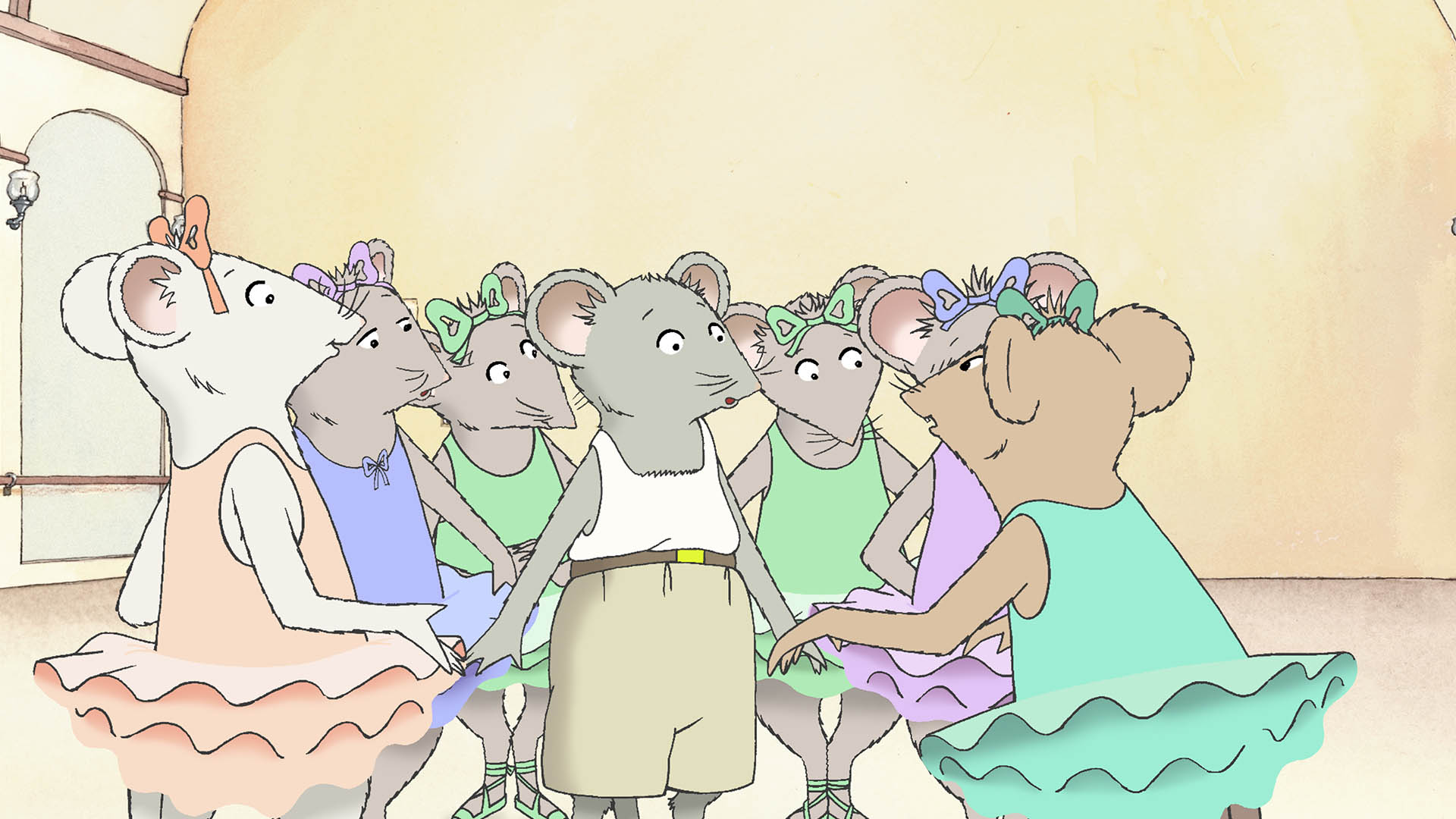 This is a picture of Decisive Angelina Ballerina Characters